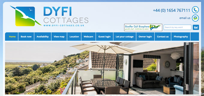 Dyfi Cottages website