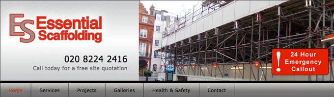 Essential Scaffolding website