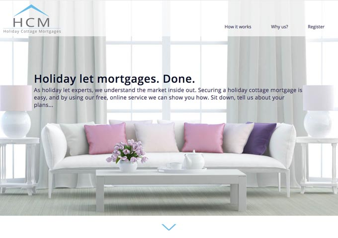 Holiday Cottage mortgages website