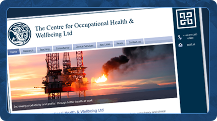 Occupational Health & Wellbeing Website
