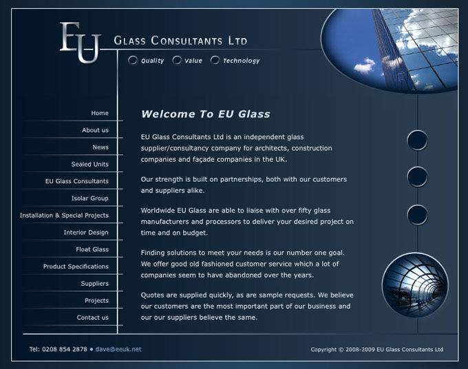 EU Glass Website