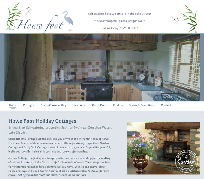 Howe Foot Holiday Cottages website