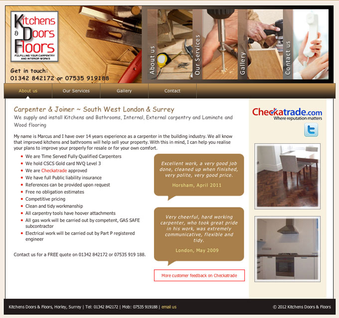 Carpentry and Joinery services south west London and Surrey