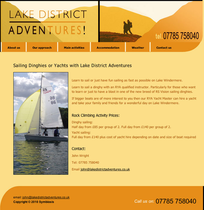 Lake District Adventures Website