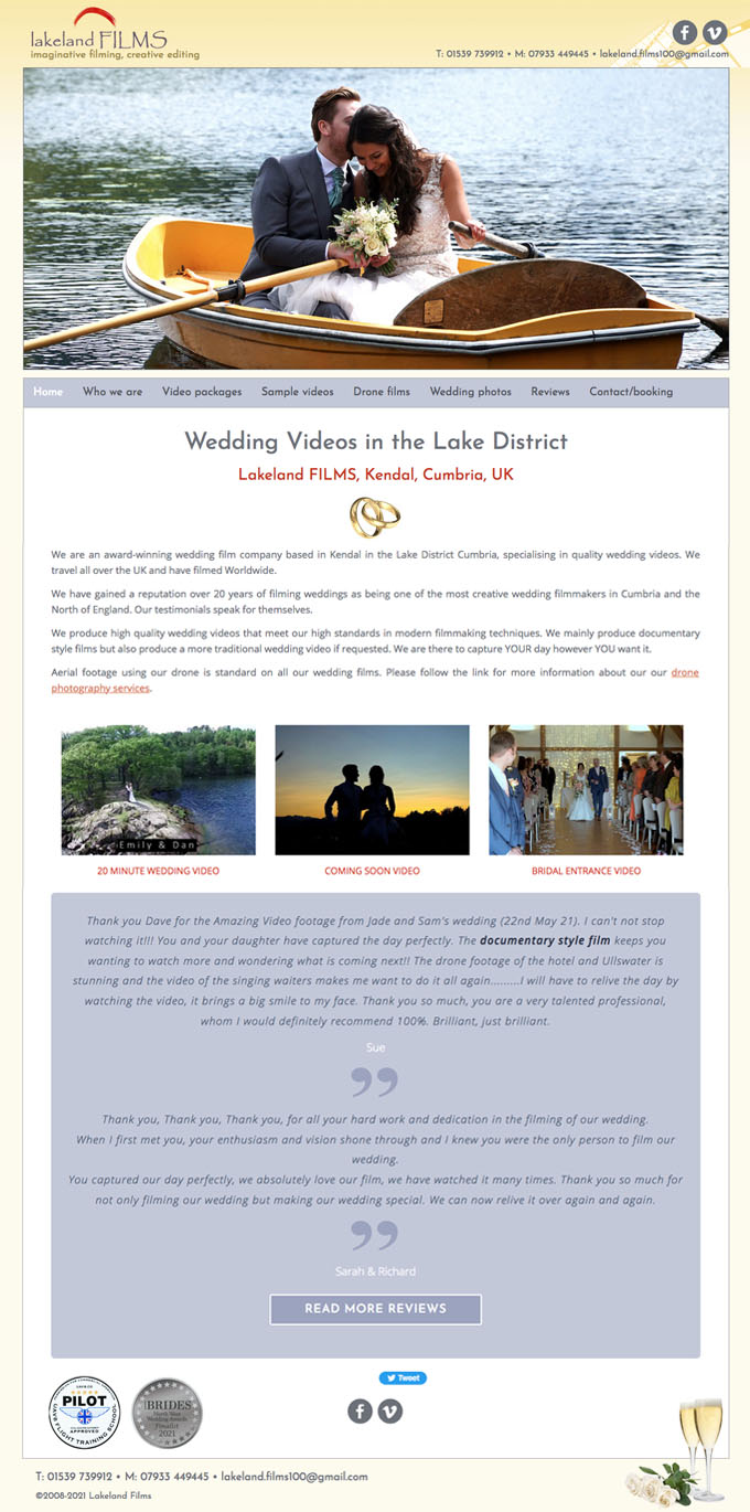 Lakeland Films Website