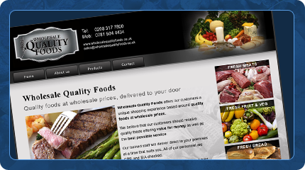 Wholesale Quality Foods Website