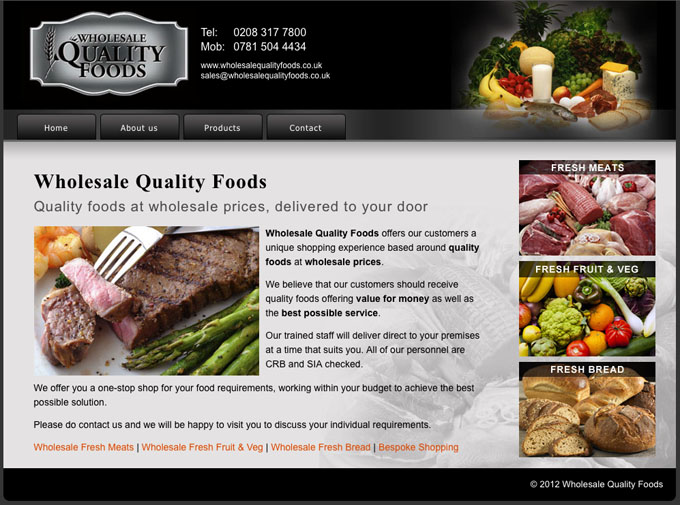 Quality Wholesales Foods Website